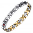 Stainless Steel Womens Magnetic Bracelet Benefits Weight Loss Healing Cuff