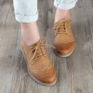 Genuine Leather Oxford Flat Shoes