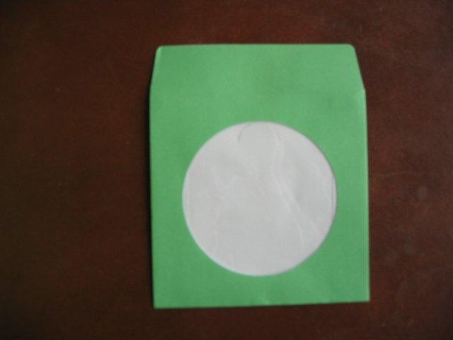 "100  3"" GREEN MINI CD-R PAPER SLEEVE ENVELOPE JS208"