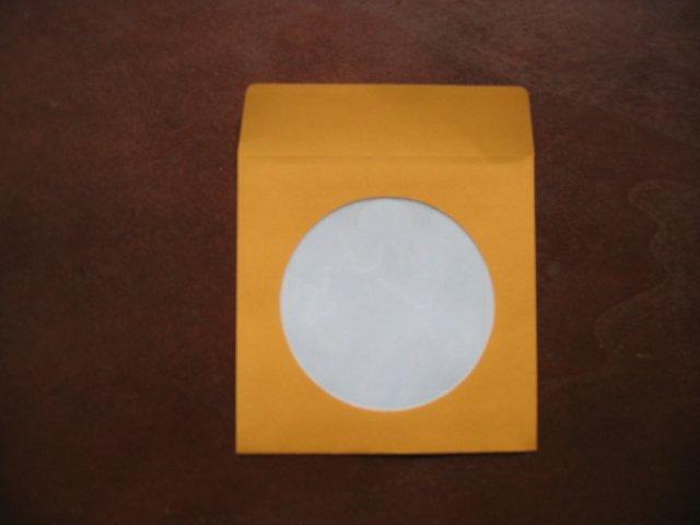 "100  3"" ORANGE MINI CD-R PAPER SLEEVE ENVELOPE JS209"