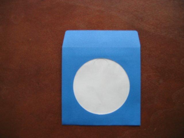 "100 3"" BLUE MINI CD-R PAPER SLEEVE ENVELOPE JS211"