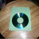 100 GREEN CD PAPER SLEEVES w/ WINDOW & FLAP - PSP60