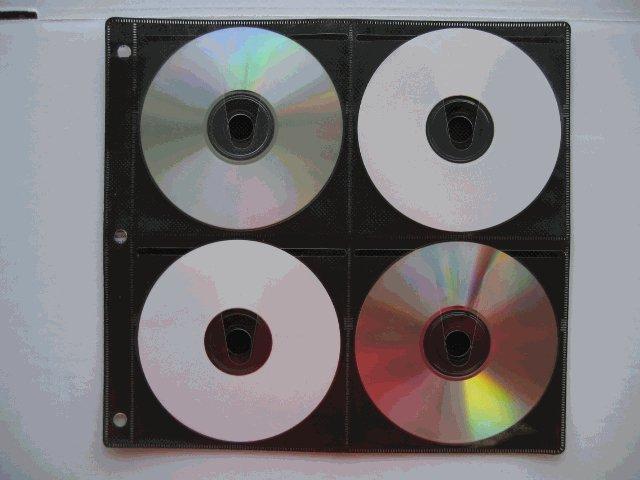 50 BINDING SLEEVES, 8 CD/DVD, BLACK SF005BLK