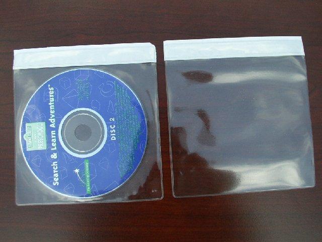 100 CD DVD VINYL (PVC) SLEEVES WITH ADHESIVE SEAL - V2