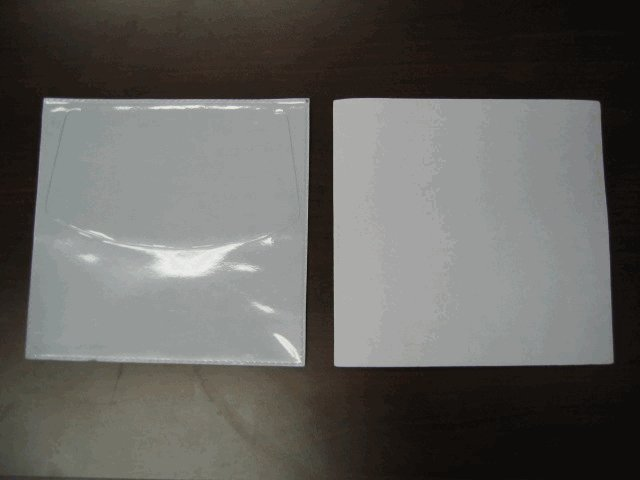 100 POLY CD SLEEVES W/GRAPHIC WINDOW, ADHESIVE BACK V5