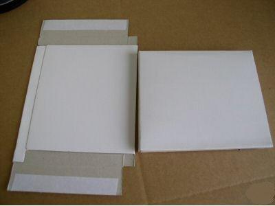 100 PCS 25 PT WHITE CARDBOARD CD DVD CASE MAILERS - JS30