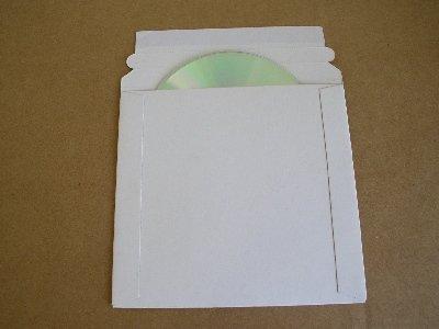"""100 PCS 6 x 6 1/4"""" CD DVD CARDBOARD MAILERS - JS92"""