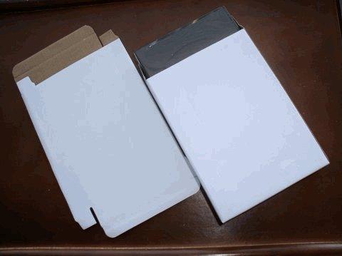 50 WHITE CORRUGATED BOXES - JS52