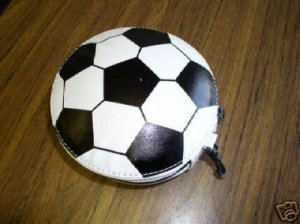 5 SPORTS CD WALLETS - HOLDS 24 CDS each - SOCCER