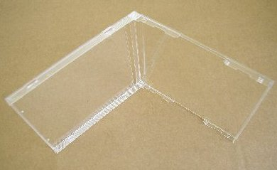 100 STANDARD CD JEWEL CASES, CLEAR NO TRAY BL100