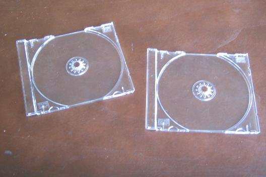 100 SINGLE CD TRAYS - CLEAR - KC02PK