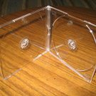 100 DOUBLE SLIM CD JEWEL CASES W/CLEAR TRAY BL115