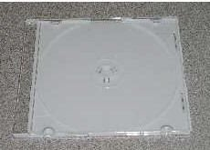 100 5.2mm SLIM JEWEL CASES W/ WHITE TRAY- PSC16WHT