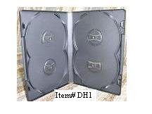 25 OVERLAP QUAD DVD CASES - DH1 - Each Case Holds 4 Discs!