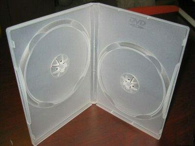 50 DOUBLE DVD CASES w/DVD LOGO, CLEAR - PSD37