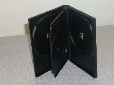 50 TRIPLE DVD CASES, BLACK - PSD50