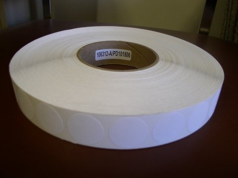 1,000 PAPER DOTS W/ADHESIVE BACKING - BL1