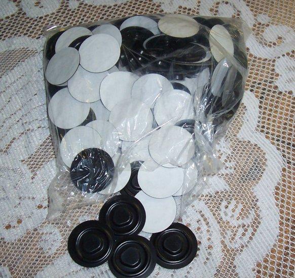 100 CD VACUUM HUB W/ADHESIVE BACKING, BLACK VACHUB