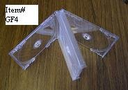 25 QUAD CD CLEAR CASES WITH FROSTY CLEAR TRAYS - GF4