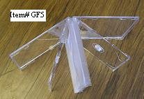 25 FIVE CD CLEAR CASES WITH FROSTY CLEAR TRAYS - GF5