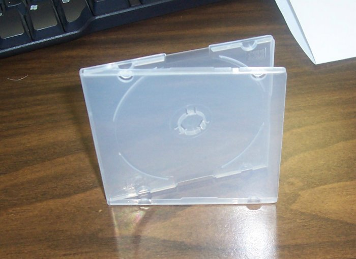 200 MINI CD/DVD POLY CASES - Clear - JS33