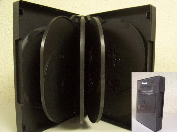 10 DVD CASES - Holds 10 DVD'S Each - Store 100 DVD'S -  BLACK - SF004
