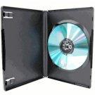 50 SINGLE DVD CASES, M-LOCK, BLACK - PSD11
