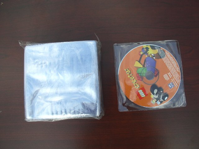 200 Clear Vinyl CD or DVD Sleeves - JS38
