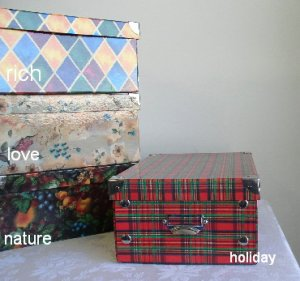 4 Medium Decorative Storage Boxes - RICH Pattern
