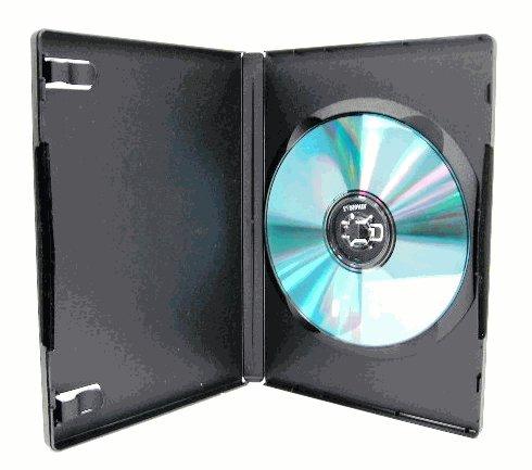 1000 SINGLE DVD CASES, M-LOCK, BLACK - PSD11