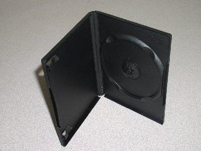 1000 NEW BLACK SINGLE DVD / CD CASES - PSD12