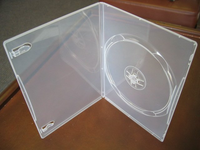 1000 NEW CLEAR SINGLE DVD / CD CASES - PSD23