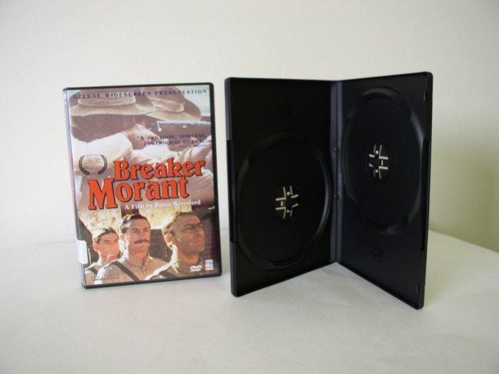 1000 DOUBLE DVD CASES, NO LOGO, BLACK - PSD32