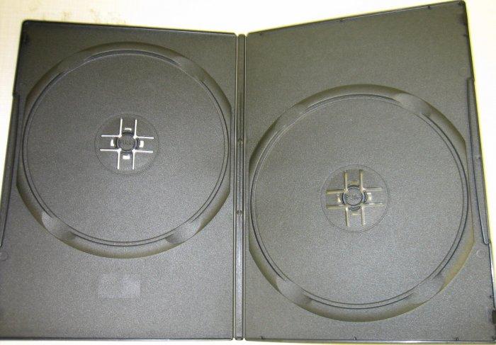 1000 BLACK SUPER SLIM 7mm DOUBLE 2 DVD CASES - PSD35