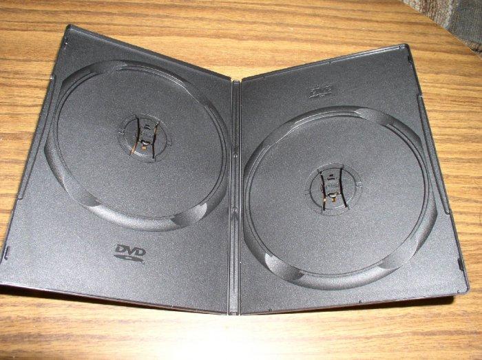 1000 BLACK SUPER SLIM DOUBLE 2 DVD CASES - PSD34