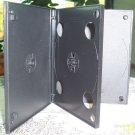 500 QUAD MINI DVD CASES, BLACK W/SLEEVE - MINIDVDCASE