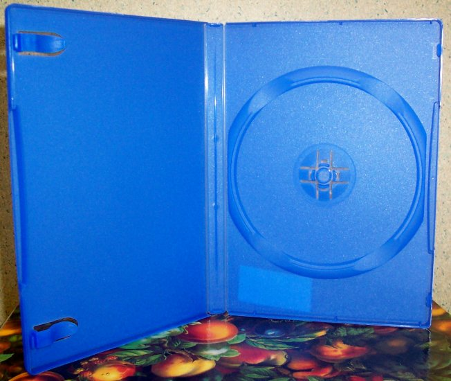 50 NEW STANDARD DVD CASES, BLUE Opaque - BL71