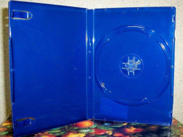 50 NEW STANDARD DVD CASES, BLUE Translucent - BL71PS2