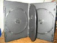 500 SLIM QUAD DVD CASES, BLACK - PSD75
