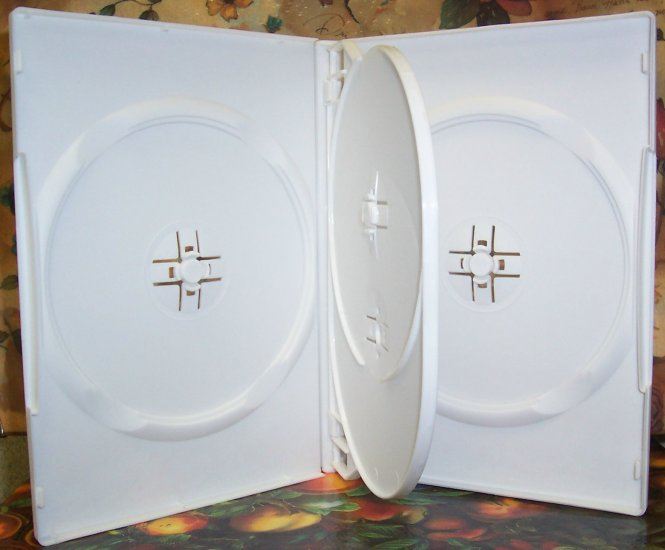 50 SLIM QUAD DVD CASES, WHITE - PSD76