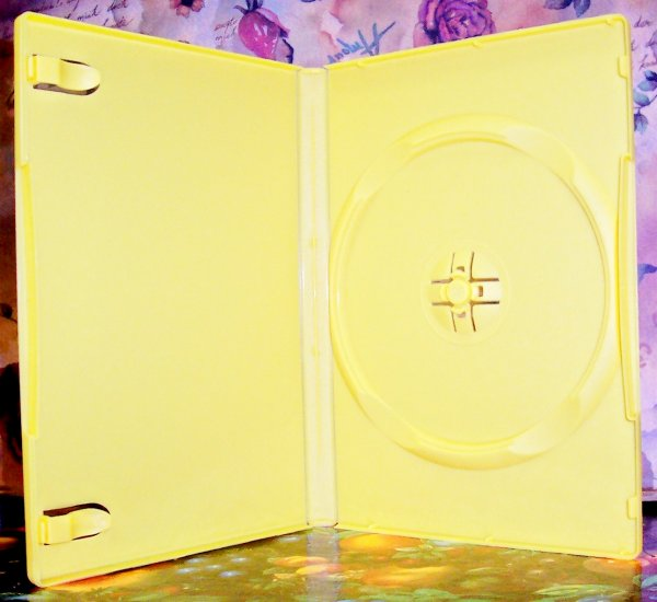 50 NEW STANDARD DVD CASES, YELLOW Opaque - BL70