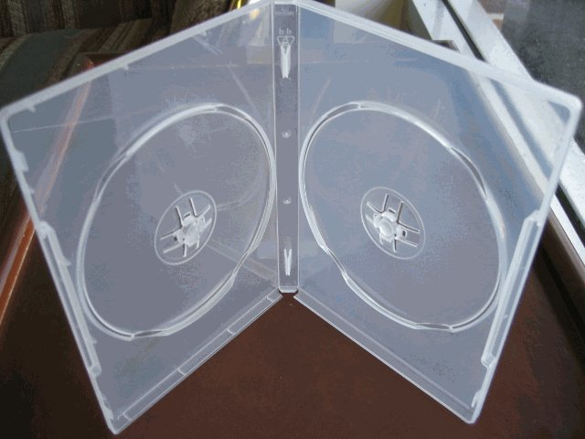 1000 Double DVD Cases w/Booklet Clips - PSD49