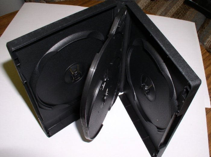 400 QUAD (4) DVD CASES, BLACK - PSD70 - Each Case Holds 4 DVD'S!