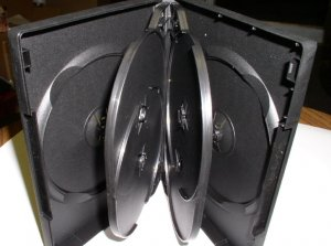 25 MULTI 6 DVD CASES, BLACK - PSD90