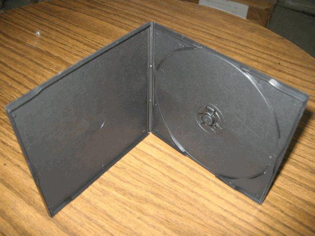 100 5MM SLIM POLY CD/DVD CASE W/SLEEVE, BLACK - KC01PK