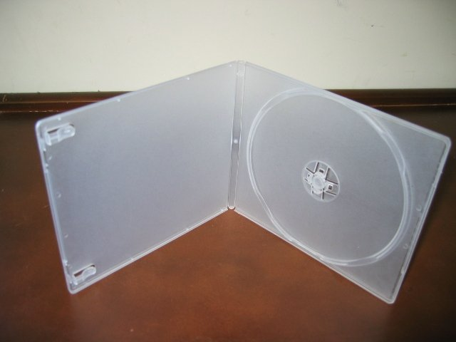 100 7MM SLIM POLY CASE W/SLEEVE, CLEAR - PSC7