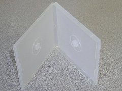 1000 DOUBLE POLY CD CASE W/SLEEVE, CLEAR - PSC34