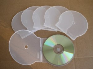 1000 Dering Original Clear Clamshell CD CASES - 60001