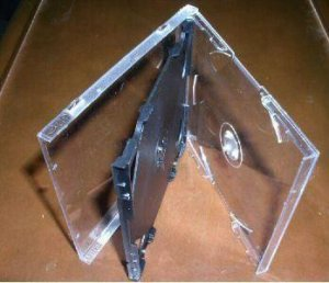 1000 SLIM TRIPLE CD JEWEL CASES W/ BLACK TRAY - SLIM3CD
