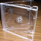 100 NEW DOUBLE CD JEWEL CASES W/ CLEAR TRAY - PSC36